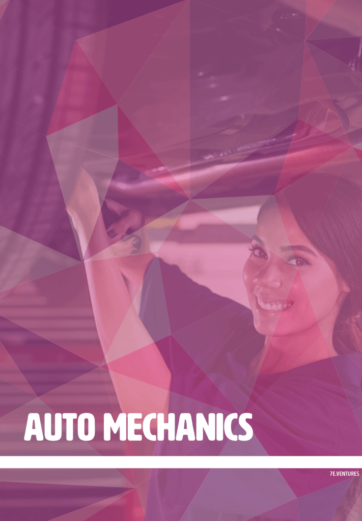 Nontraditional Career Poster: Auto Mechanics