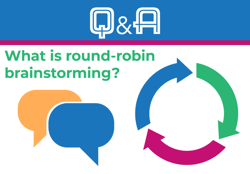 What is round-robin brainstorming?