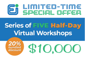 Limted Time Special Offer: Series of FIVE half-day virtual workshops for 10k